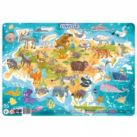 Dodo Keretes Puzzle 53 db - Eurázsia
