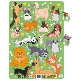 Dodo Keretes Puzzle 53 db - Kutyák