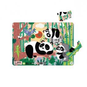 Dodo Keretes Puzzle Háttérrel 21 db - Panda