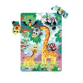 Dodo Keretes Puzzle Háttérrel 21 db - Zsiráf