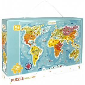 Dodo puzzle 100 db - Világtérkép