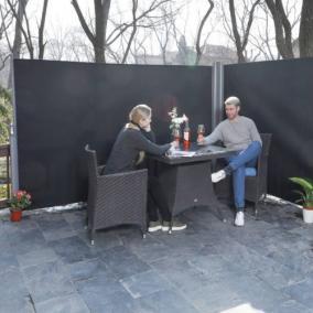Kihúzható árnyékoló fal, szürke (dupla) 2x 160x300cm