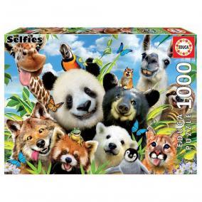 Educa Állati szelfi puzzle, 1000 darabos
