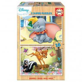 Educa Disney Bambi és Dumbo fa puzzle, 2 x 16 darabos