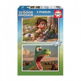 Educa Disney Dínó tesó puzzle, 2x20 darabos