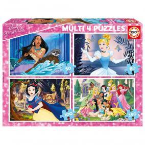 Educa Disney hercegnők puzzle, 4 az 1-ben 17637