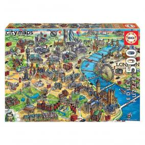 Educa London térképe puzzle, 500 darabos