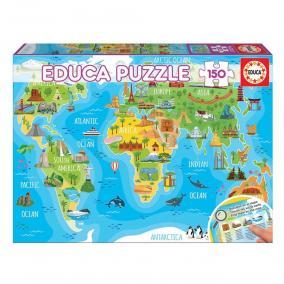 Educa Műemlékek világtérkép puzzle, 150 darabos