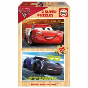 Educa Verdák 3. fa puzzle, 2 x 25 darabos