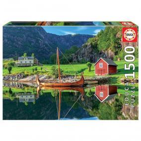 Educa Viking hajó puzzle, 1500 darabos