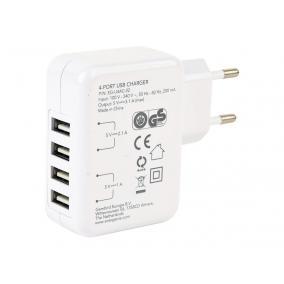 ENERGENIE EG-U4AC-02 Energenie univerzális USB töltő 3.1A fehér