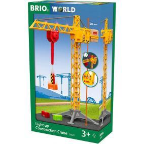 Építkezés daru világítással 33835 Brio