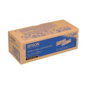 Epson C2900 [BK] [3k] (Dupla) toner #C13S050631 (eredeti, új)