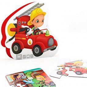 Eurekakids 68215052843 4 az egyben puzzle- tűzoltó