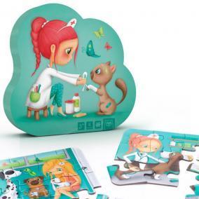 Eurekakids 68215052844 4 az egyben puzzle- állatorvos