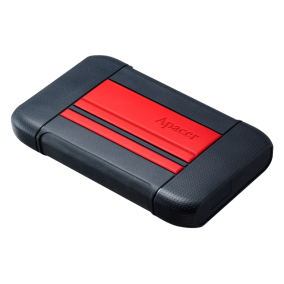 External HDD Apacer AC633 2.5'' 2TB USB 3.1, shockproof military grade, Red