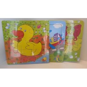 Fa puzzle, kis állatkás vagy virágos