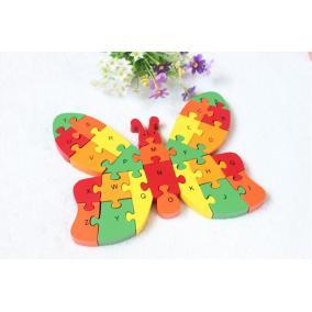Fa puzzle pillangó