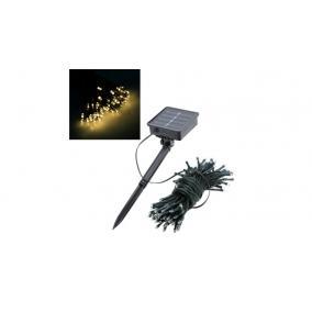 Kerti fényfüzér, 100 LED-es napelemes, melegfehér, 10 m