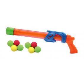 Fizzy Balls 2in1ben vízi/szivacslövő pisztoly, narancs 460312 Jamara