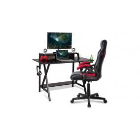 Számítógép asztal, fekete