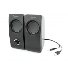 Gembird Desktop Multimedia Stereo Speakers set 2.0 ''Tsunami'', RMS 6W, black