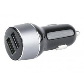 Gembird Mini 2-portos USB autós töltő, fekete