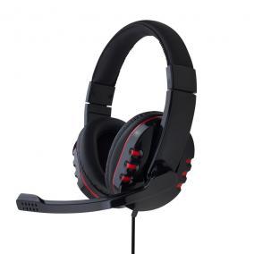 Gembird Gaming mikrofon és stereo fejhallgató hangerőszabályzóval, glossy black