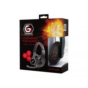 Gembird GHS-402 Gaming mikrofonos fejhallgató, vezetékes, fényes fekete