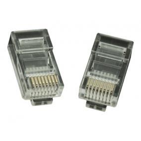 GEMBIRD LC-8P8C-001/100 Gembird LAN modular plug 8P8C for solid cable cat. 5e, 30U (100 pcs)