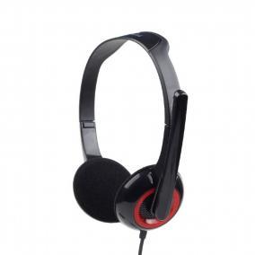 Gembird MHS-002 sztereó fejhallgató mikrofonnal, fekete
