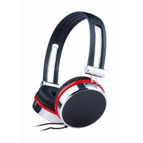Gembird MHS-903 sztereó fejhallgató mikrofonnal, vezetékes, fekete-ezüst-piros