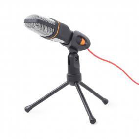 Gembird MIC-D-03 asztali mikrofon állvánnyal, fekete