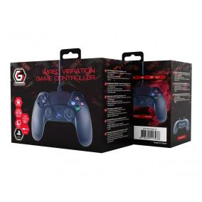 GEMBIRD Wired vibration game controller for PlayStation 4 or PC black