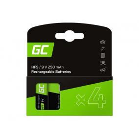 GREENCELL Rechargeable batteries 4x 9V HF9 Ni-MH 250mAh