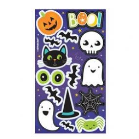 Halloween Figurák Matrica, 4 db-os