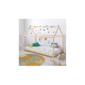 Fa Házikó formájú gyerekágy, 70x140