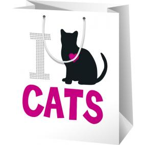 I Love Cats  Díszzacskó nagy 267 mm  x 137 mm x 330 mm