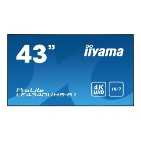 IIYAMA LE4340UHS-B1 Monitor Iiyama LE4340UHS-B1 42.5, VA, 4K UHD, DVI/HDMI, speakers