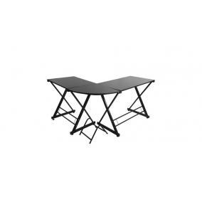 Íróasztal L-alakú, fekete