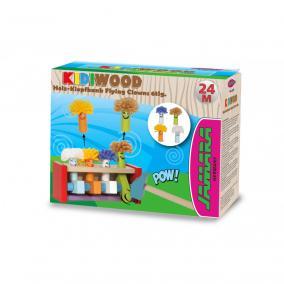 Jamara 460701 Kidiwood Fa ugráló bohócok ügyességi játék 6 darabos