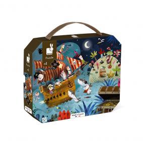 Janod 02614 Kalóz puzzle bőröndben - 36 db