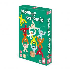 Janod 02633 Majom piramis- ügyességi játék