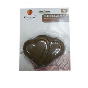 Szilikon sütőforma, páros szívek, 4db-os