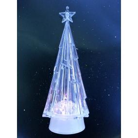 LED-es fenyő, dekoráció, asztali dísz