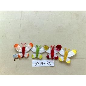 Pillangó dekoráció, vegyes színekben (1db)