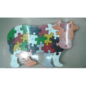Fa puzzle tehén