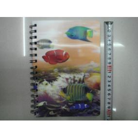 Notesz, halacskás 3D (15x20cm)