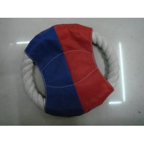 Kutya rágókötél, 2 végű, kék-piros betéttel