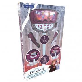 Jégvarázs állítható állvány 2 mikrofonnal, hangeffektusokkal,  világítással, hangszóróva